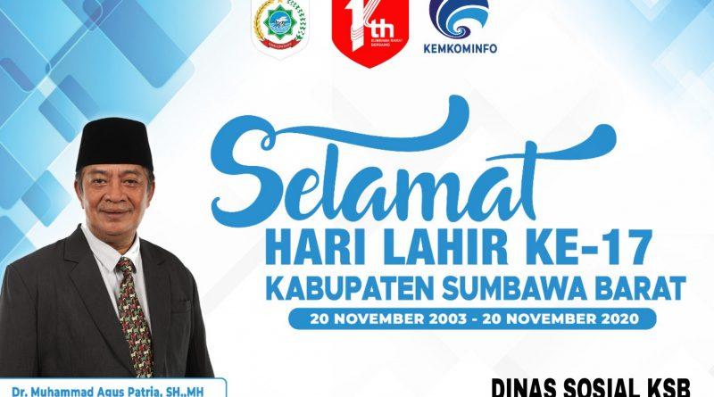 Dinas Sosial Mengucapkan Selamat Hari Lahir ke-17 Kabupaten Sumbawa Barat