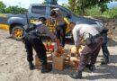 Sat Sabhara Polres Sumbawa Musnahkan Puluhan Botol Miras Hasil Tipiring