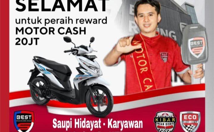 Selamat Kepada Saupi Hidayat, Peraih Reward Motor Cash Senilai Rp20 Juta Dari PT BEST